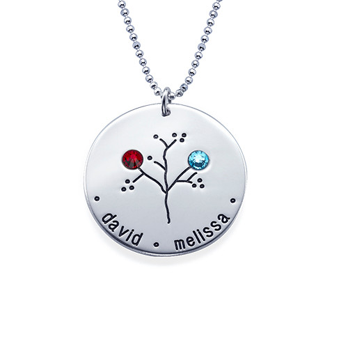 NEW Sterling Silver Family Tree Necklace - 2
