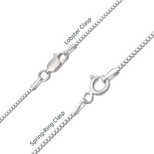 Name Necklace with Swarovski Butterfly - 2