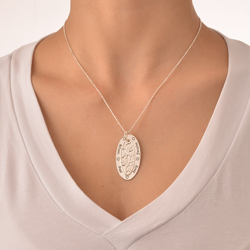 Oval Family Tree Necklace - 2
