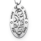 Oval Family Tree Necklace