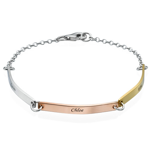 Personalised Bar Bracelet - Multi-Toned