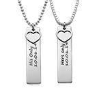 Personalised Bar Necklace for Couples