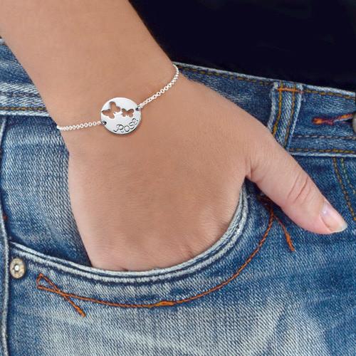 Personalised Butterfly Pendant Bracelet - 2