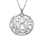 Personalised Circle Monogram Necklace