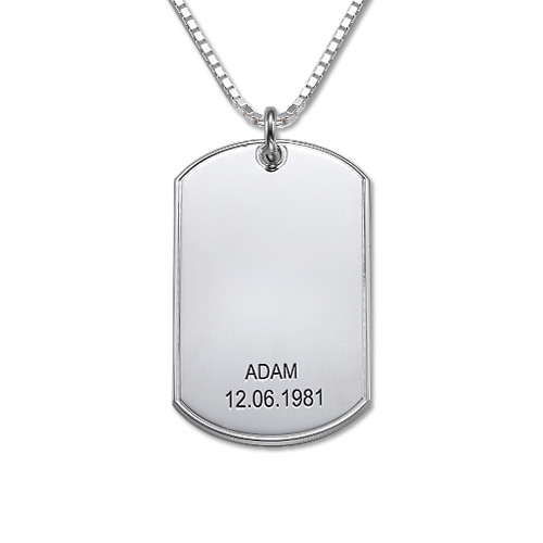 Personalised Dog Tag Necklace