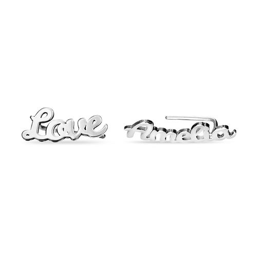 Personalised Ear Climbers in Sterling Silver