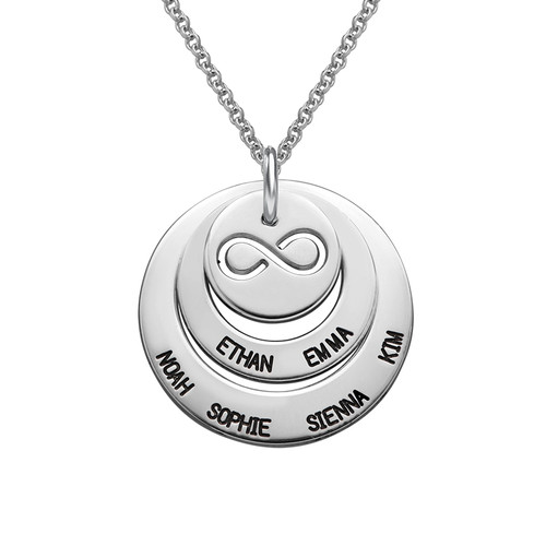 Personalised Family Necklace with Infinity Symbol
