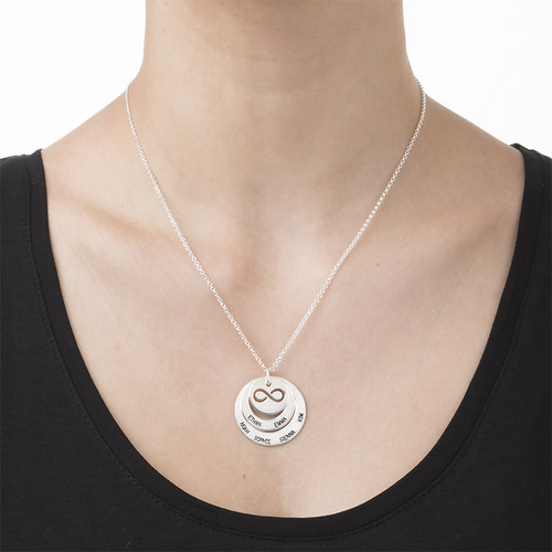 Personalised Family Necklace with Infinity Symbol - 2