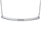 Personalised Jewellery - Silver Bar Necklace