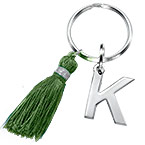 Personalised Keychain with Initial and Tassel