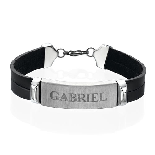 Personalised Leather Bracelet for Men - 1