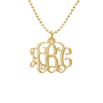 Personalised Monogram Necklace in 10ct Gold