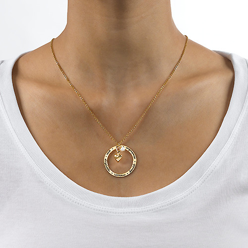 Personalised Mothers Jewellery in Gold Plating - 1