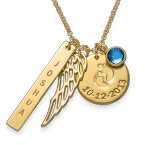 Personalised Mum Charm Necklace with Gold Plating