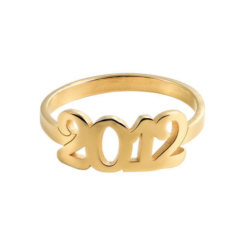 Personalised Number Ring with 18ct Gold Plating - 1