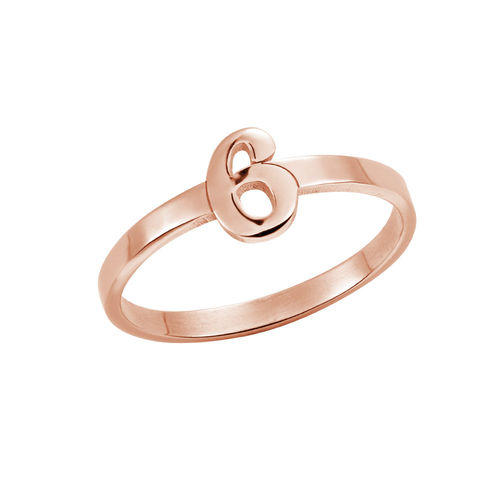 Personalised Number Ring with 18ct Rose Gold Plating