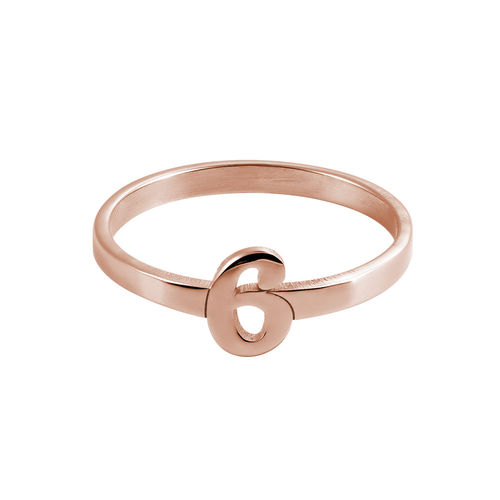 Personalised Number Ring with 18ct Rose Gold Plating - 1