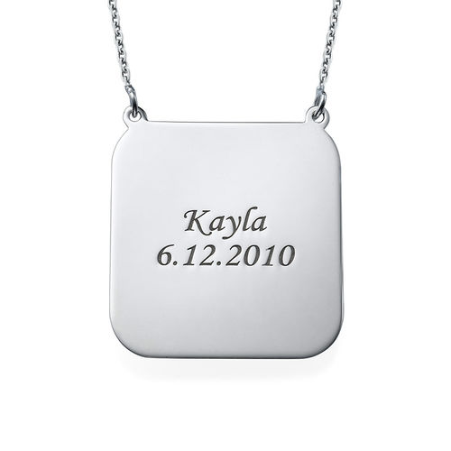 Personalised Photo Necklace - Square Shaped - 1
