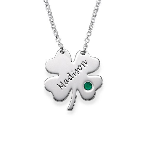 Personalised St. Patrick's Day Clover Necklace