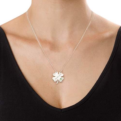 Personalised St. Patrick's Day Clover Necklace - 1