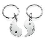 Personalised Yin Yang Keyring for Couples
