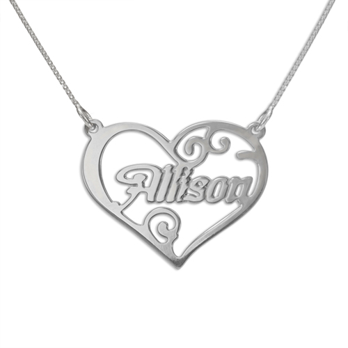a90d105b0e Personalised Jewelry Heart Name Necklace | MyNameNecklace NZ