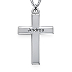 Personalised Sterling Silver Cross Pendant