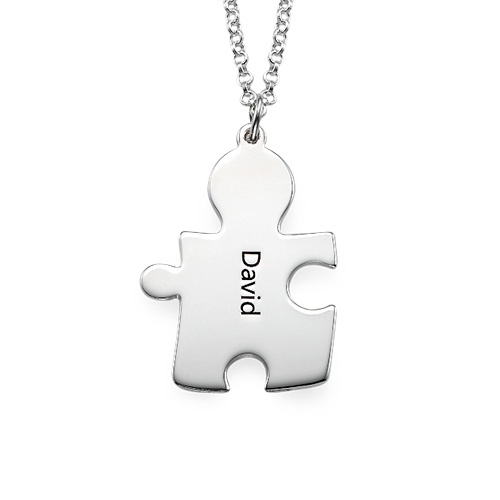 Personalised Couple's Puzzle Necklaces - 2