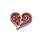 Red Heart Charm for Floating Locket