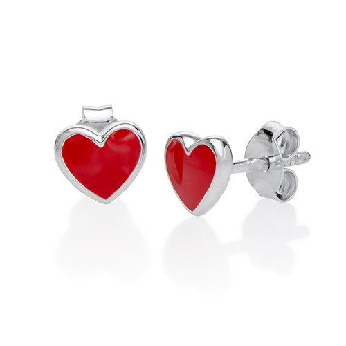 Red Heart Earrings for Kids