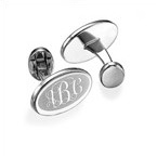 Rhodium Plated Monogrammed Cufflinks