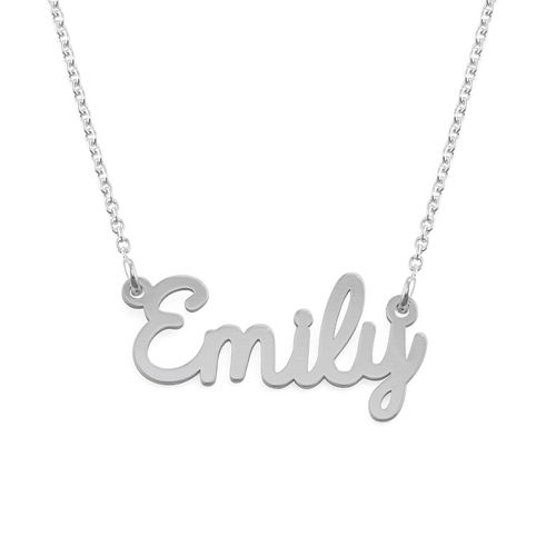 Script Name Necklace in Silver - 2