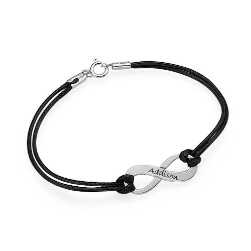 Silver Engraved Infinity Bracelet