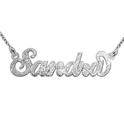 "Sparkling Diamond-Cut Silver ""Carrie"" Necklace - 1"