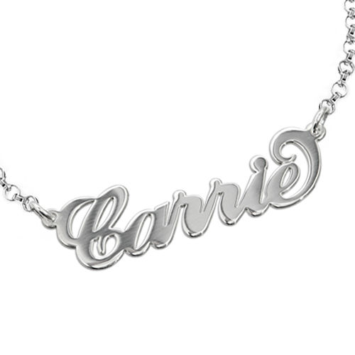 """Silver """"Carrie"""" Style Name Bracelet - 1"""