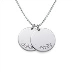 Silver Name Disc Kids Necklace