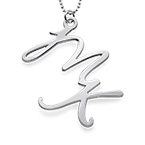 Sterling Silver Two Initials Necklace