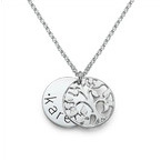 Single Disc Family Tree Necklace