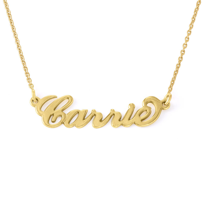 Small 18ct Gold-Plated Carrie Style Name Necklace
