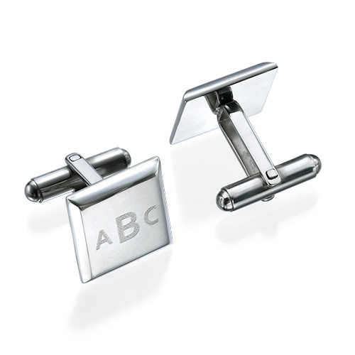Square Monogrammed Cufflinks