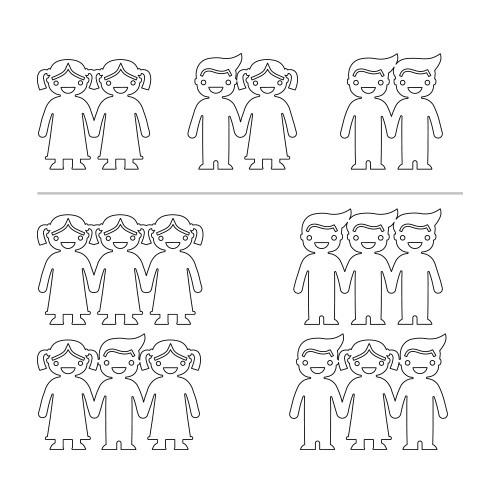 Sterling Silver Kids Holding Hands Necklace - 1