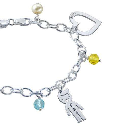 Sterling Silver Mum's Charm Bracelet - 2