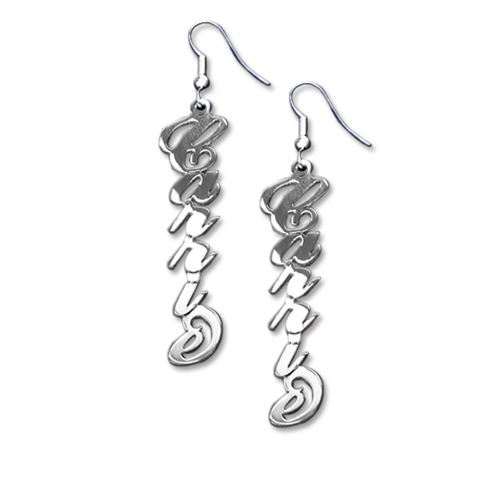 """Sterling Silver """"Carrie"""" Style Name Earrings"""