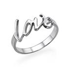 Sterling Silver Custom Love Ring
