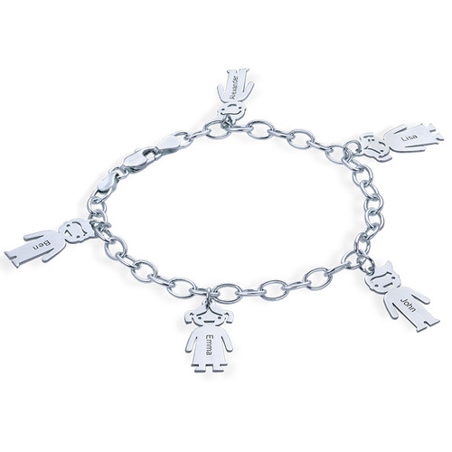 Sterling Silver Engraved Kids Bracelet