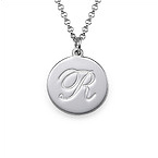 Sterling Silver Engraved Script Pendant