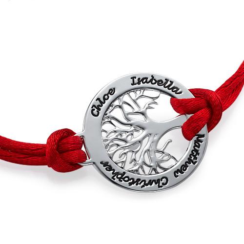 Sterling Silver Family Tree Bracelet - 1