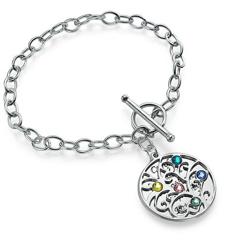 Sterling Silver Filigree Tree of Life Bracelet - 1