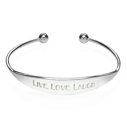 Sterling Silver ID Bangle Bracelet