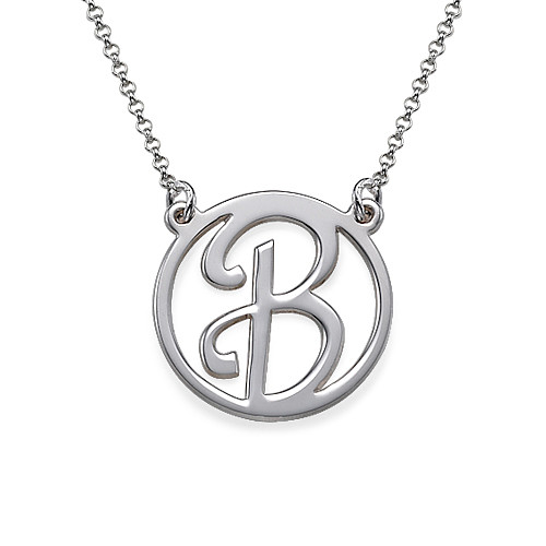 Sterling Silver Initial Pendant